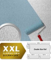 Wallpaper paintable non-woven wall covering EDEM 374-60 XXL textured ceiling white  001