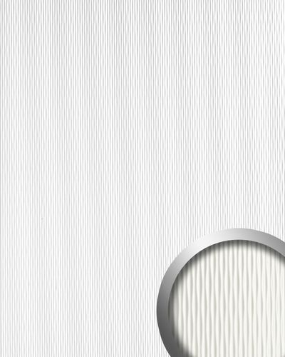Decor paneling self-adhesive 3D Wave-structure Plastic design WallFace 17043 MOTION ONE wallcovering white 2,60 sqm – Bild 1