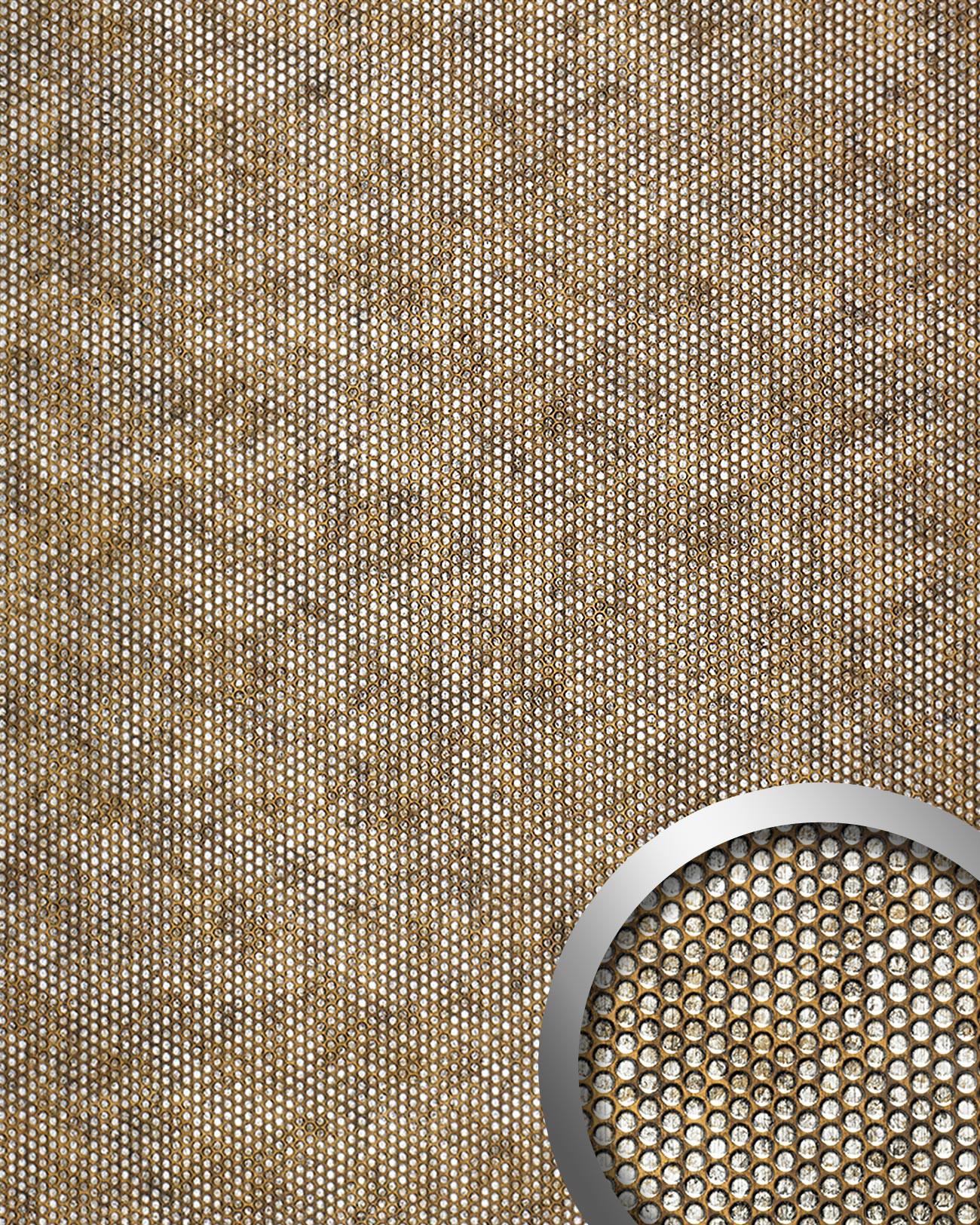 WallFace RACE Wall panel self adhesive 3D embossed brown