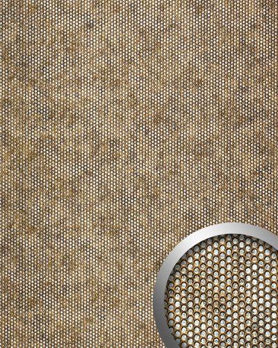 Wandplatte 3D Runddekor geprägt Paneel selbstklebend WallFace 17241 RACE Wandpaneel Design kupfer-braun silber | 2,60 qm – Bild 1