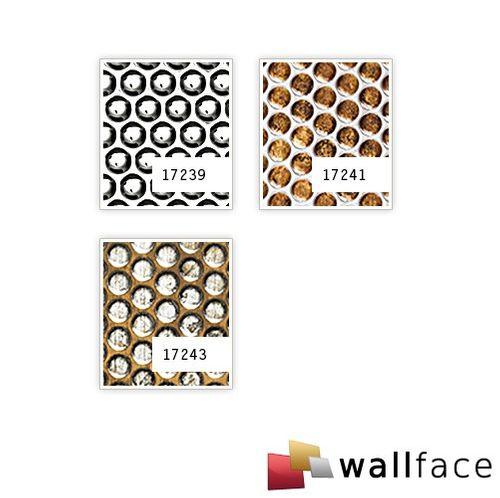 Wandplatte 3D Runddekor geprägt Paneel selbstklebend WallFace 17243 RACE Wandpaneel Design bronze silber | 2,60 qm – Bild 2