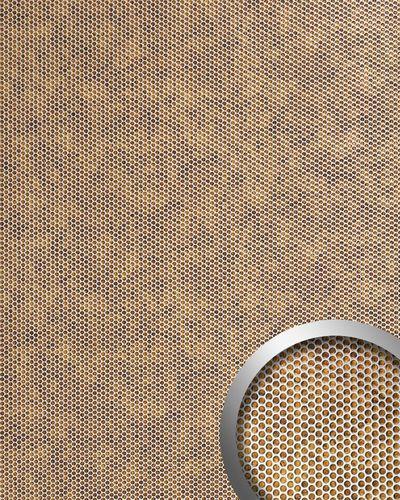 Wandplatte 3D Runddekor geprägt Paneel selbstklebend WallFace 17243 RACE Wandpaneel Design bronze silber | 2,60 qm – Bild 1