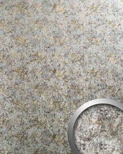 Wallcoverings self-adhesive Vintage design 3D decorative studs Shabby Chic WallFace 17237 RIVET silver grey 2,6 sqm – Bild 1