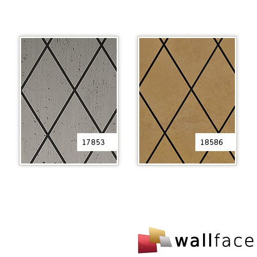 Wandverkleidung Rombo Mosaik Dekor selbstklebend WallFace 17853 LINEA Wandpaneel Design platin grau schwarz | 2,60 qm – Bild 3