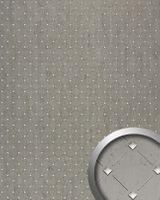 Wandverkleidung 17857 3D Mosaik Optik Platin Grau Silber 001
