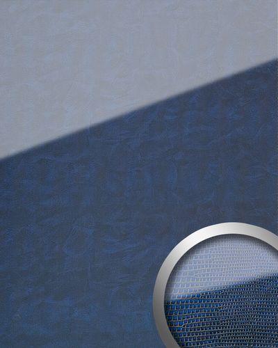 Wandpaneel Glas-Optik WallFace 16984 LEGUAN Luxus Dekor Wandverkleidung abriebfest selbstklebend dunkel blau | 2,60 qm – Bild 1