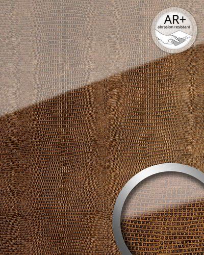 Wandpaneel Glas Optik 16981 LEGUAN kupfer braun – Bild 2