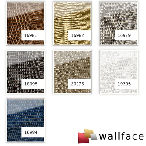 Wandpaneel Glas Optik 16979 LEGUAN silber grau – Bild 3