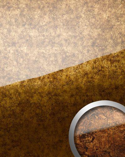Wandverkleidung abriebfest selbstklebend WallFace 17200 VINTAGE Wandpaneel Glas-Optik Luxus Dekor kupfer braun | 2,60 qm – Bild 1