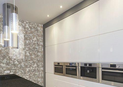 Wandpaneel Glas-Optik Französiche Spitze Muster WallFace 17839 LACE Wandverkleidung selbstklebend weiß braun | 2,60 qm – Bild 3