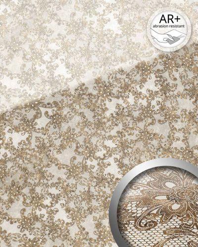 Wandpaneel Glas-Optik Französiche Spitze Muster WallFace 17839 LACE Wandverkleidung selbstklebend weiß braun | 2,60 qm – Bild 2