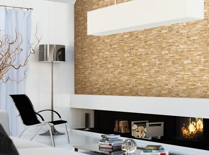 Xxl steen behang natuursteen edem 918 33 vliesbehang muur optiek in reli f zand beige 10 65 qm - Modern muur steen ...