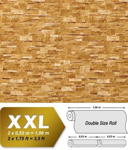 3D Stein Vliestapete EDEM 918-33 XXL geprägte Naturstein Bruchstein-Optik hochwertig sand beige 10,65 qm – Bild 1