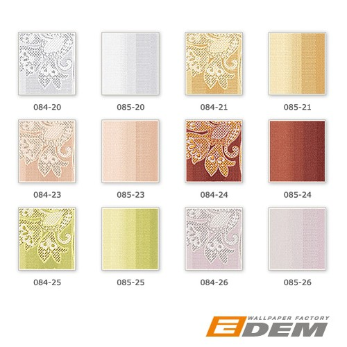 Block stripes er stripe pattern wallpaper wall wallcovering EDEM 085-23 brown apricot old-rose silver  – Bild 4