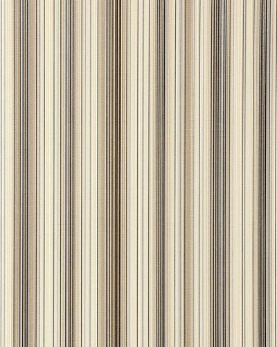 Wallcovering vinyl stripes wallpaper wall EDEM 097-23 sumptuous stripes modern and noble brown beige silver black  – Bild 1