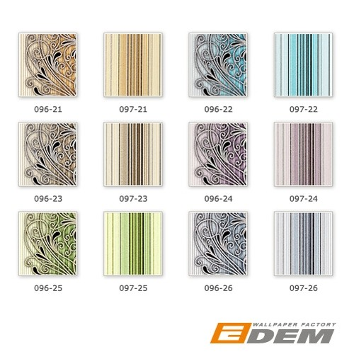 Wallcovering vinyl stripes wallpaper wall EDEM 097-23 sumptuous stripes modern and noble brown beige silver black  – Bild 6