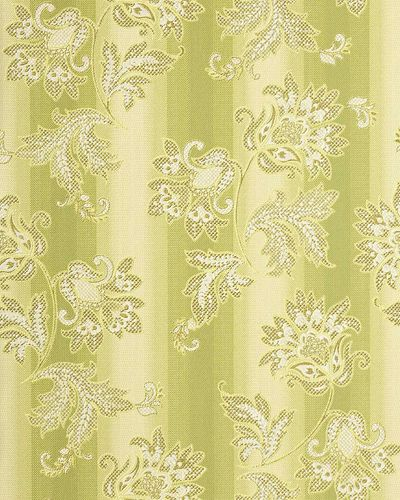 Baroque wallpaper wall floral flowers EDEM 084-25 wall covering vinyl green light green beige gold  – Bild 1