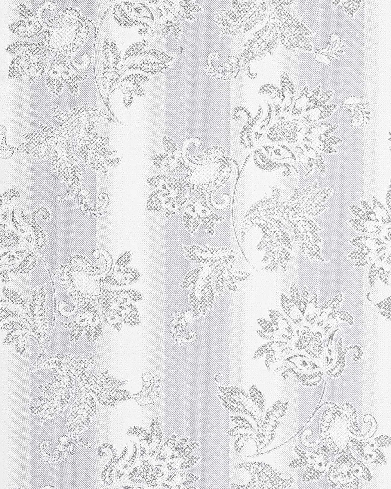 papel pintado vinlico de diseo floral edem flores barroco gris gris claro blanco plata m