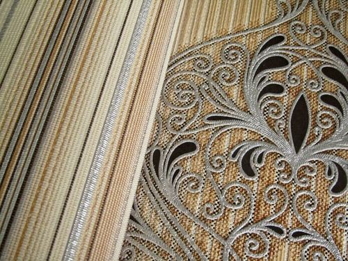 Baroque damask wall covering EDEM 096-21 Wallpaper modern opulent ornament brown orange black silver  – Bild 4