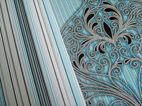 Baroque damask wall covering EDEM 096-22 Wallpaper modern opulent ornament turquoise white silver black  – Bild 4