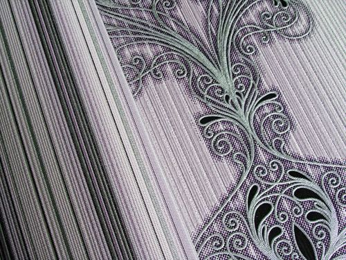 Baroque damask wall covering EDEM 096-24 Wallpaper modern opulent ornament lilac white silver black  – Bild 4