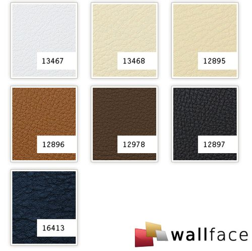 1 PIEZA DE MUESTRA S-12895-SA WallFace LEATHER BEIGE Leather Collection | Muestra panel de pared en tamaño aprox DIN A4 – Imagen 3
