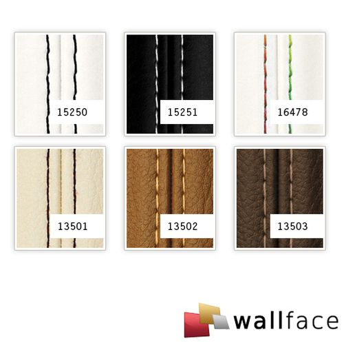 1 MUSTERSTÜCK S-13503-SA WallFace DARK BROWN ZN Leather Collection | Dekorpaneel MUSTER in ca. DIN A4 Größe – Bild 4