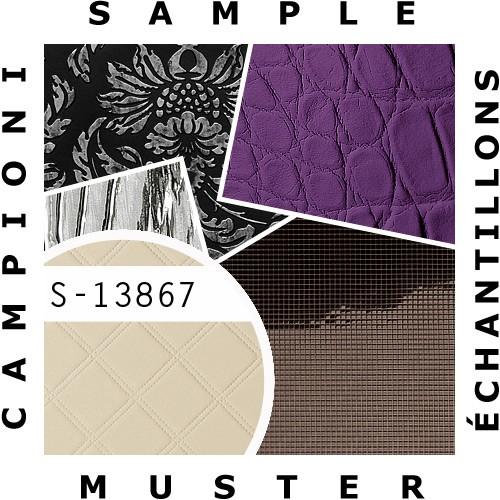 1 MUSTERSTÜCK S-13867-SA WallFace ROMBO 85 CREME Leather Collection | Dekorpaneel MUSTER in ca. DIN A4 Größe – Bild 2