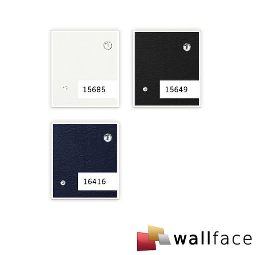 1 PIEZA DE MUESTRA S-15685-SA WallFace CR CRISTAL STELLA BIANCO Leather Collection | Muestra panel decorativo en tamaño aprox DIN A4 – Imagen 3