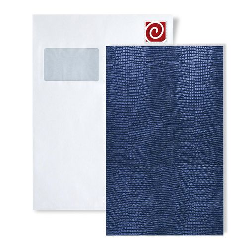1 MUSTERSTÜCK S-16986 WallFace LEGUAN BLUE Leather Collection | Dekorpaneel MUSTER in ca. DIN A4 Größe – Bild 1