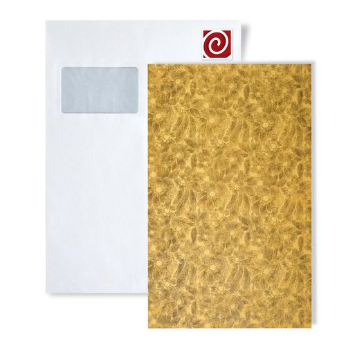 1 MUSTERSTÜCK S-17035-SA WallFace FLEUR GOLD/BROWN Deco Collection | Wandverkleidung MUSTER in ca. DIN A4 Größe – Bild 1