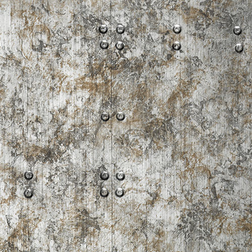 1 CAMPIONE S-17237-SA WallFace RIVET VINTAGE SILVER Structure Collection | CAMPIONE di pannello decorativo in circa DIN A4 – Bild 3