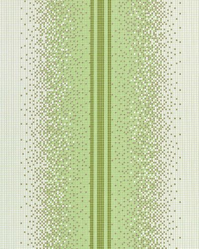 Washable vinyl mosaic wall wallpaper wallcovering EDEM 1023-15 tile stone stripe decor textured white green olive gold – Bild 1
