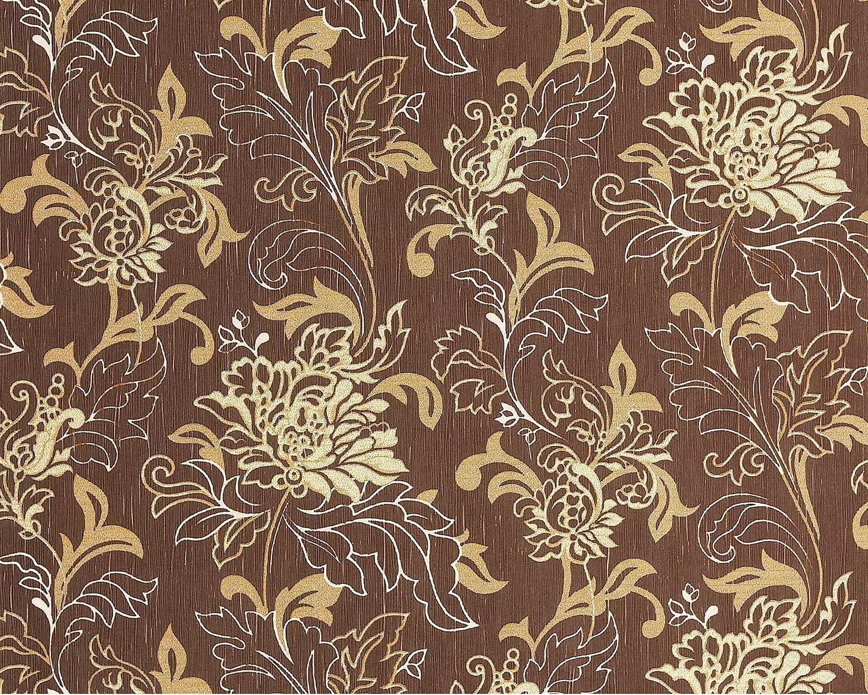 edem 604 94 vliestapete xxl designer blumentapte floral braun creme 10 65 qm ebay. Black Bedroom Furniture Sets. Home Design Ideas