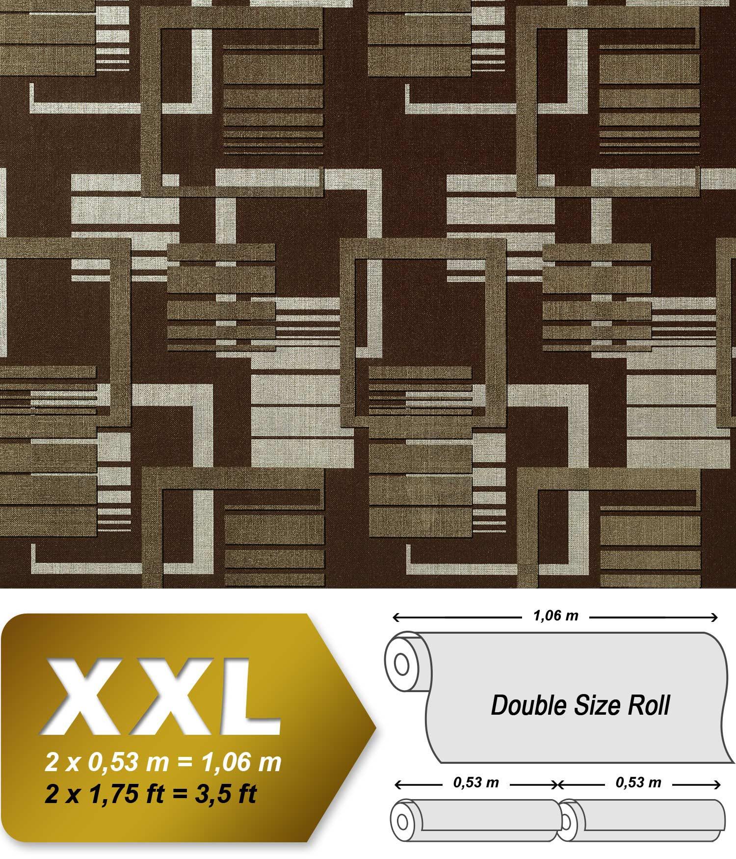 Grafische Muster Retro Tapete Vliestapete EDEM 609 94 70er Tapete XXL  Designer Grafische 3D Muster