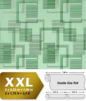 3D retro graphical wall wallpaper non-woven EDEM 609-95 Wall covering XXL textured pattern green mint silver