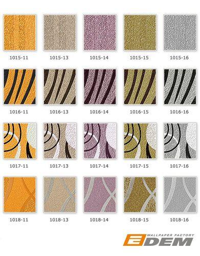 Retro Tapete EDEM 1018-13 Retrotapete Geschwungene Designer Linien mit Ornamenten 70er Style dezent glitzernd braun beige silber – Bild 3