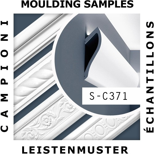 1 CAMPIONE S-C371 Orac Decor Ulf Moritz | CAMPIONE di modanatura Cornice soffitto parete Lunghezza circa 10 cm – Bild 2