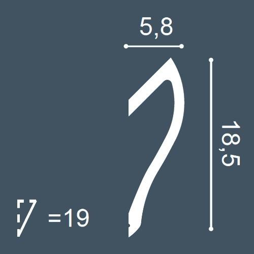 MUSTER Stuck-Profil Musterstück C371 – Bild 4