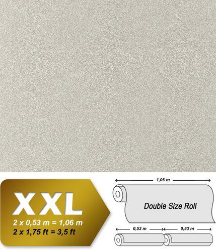 Papel pintado no tejido XXL EDEM 998-34 con relieve aspecto granulado granitos gris claro blanco 10,65 m2 – Imagen 1