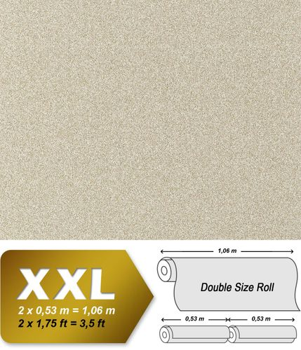 Steen behang Vliesbehang XXL EDEM 998-38 granietpleister optiek gespikkeld structuur in reliëf zandbeige wit 10,65 qm – Bild 1