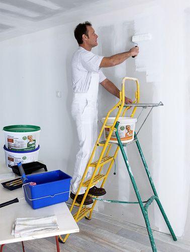 Wandfarbe PROFHOME Rapidweiß scheuerbeständige Profi-Innenfarbe hochdeckene Einschichtfarbe matt weiß ELF 12,5 ltr 85 qm – Bild 4