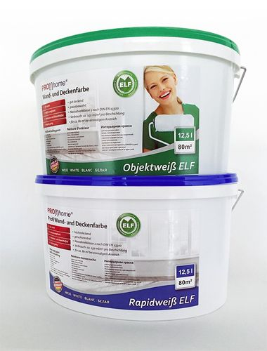 Pittura per interni PROFHOME vernice professionale per pareti e soffitti ad alto rendimento bianca opaca | 12,5 LT 85 m2 – Bild 5