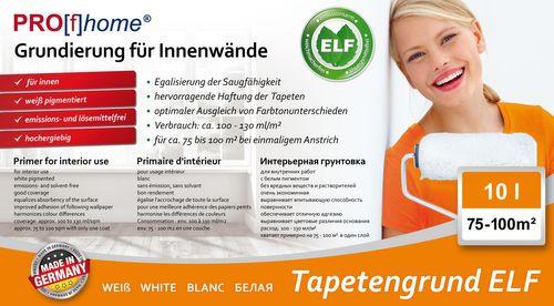 Primer speciale PROFHOME imprimitura per interni per carta da parati e TNT colore bianco | 10 LT per max. 100 m2 – Bild 2