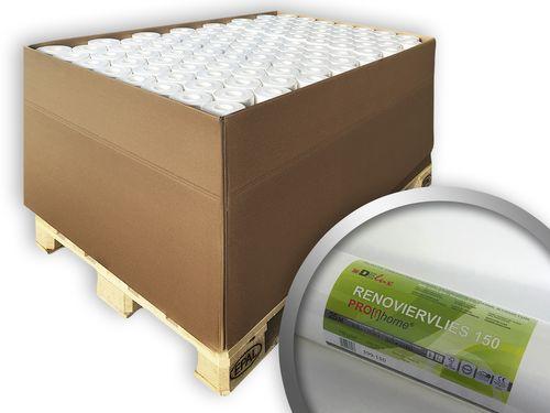 Renoviervlies PROFHOME 150 g Malervlies Anstrich-Vlies glatte überstreichbare Vliestapete weiß   1 Pal. 1500 qm 80 Rol. – Bild 1