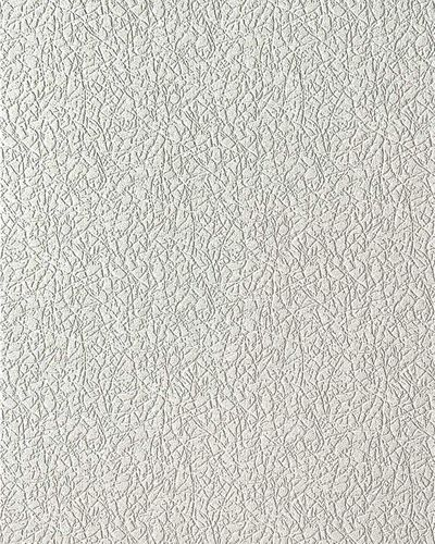 Uni Tapete EDEM 206-40 Dekorative Vinyl-Schaum-Tapete weiß crash putz optik | 7,95 qm - 15 Meter Rolle