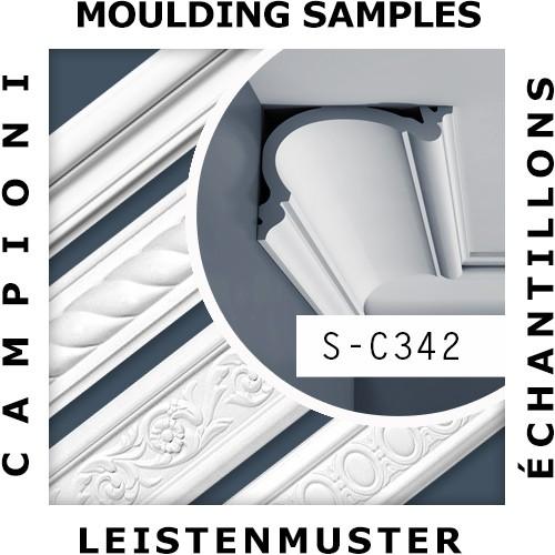 1 ÉCHANTILLON S-C342 Orac Decor LUXXUS | Échantillon Corniche Moulure de plafond Longueur env. 10 cm