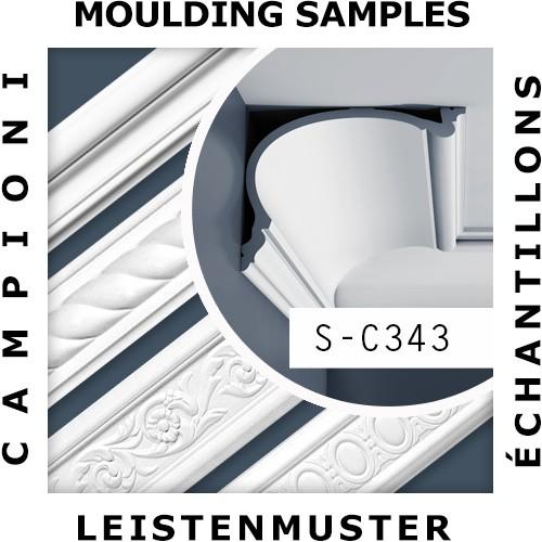 1 ÉCHANTILLON S-C343 Orac Decor LUXXUS | Échantillon Corniche Moulure de plafond Longueur env. 10 cm