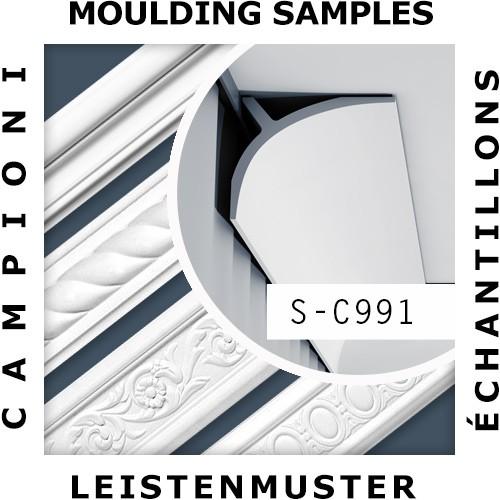 1 ÉCHANTILLON S-C991 Orac Decor LUXXUS | Échantillon Corniche pour plafond Moulure décorative Longueur env. 10 cm