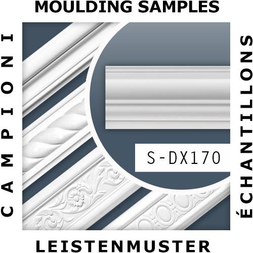 1 ÉCHANTILLON S-DX170-2300 Orac Decor LUXXUS | Échantillon Encadrement de porte Moulure multifonctionnelle Longueur env. 10 cm
